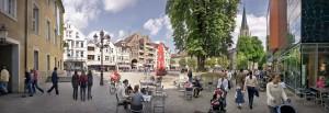 Berlinerplatz_Einkaufszone in der Innenstadt