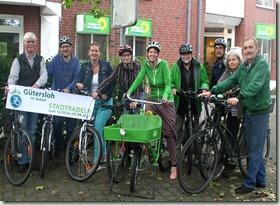 Grüne Stadtradler