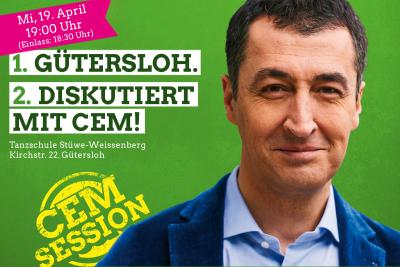 Einladungsbild Cem Özdemir, 19.4. 19 Uhr Tanzschule Stüwe-Weissenberg