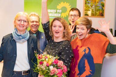 Gitte Trostmann - nach Wahl zur Bürgermeisterkandidatin -Wahlkampfteam