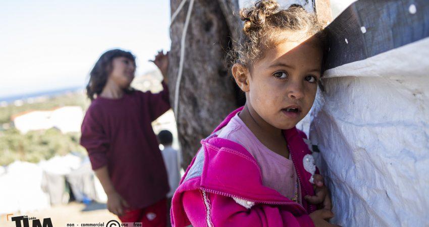 Kinder im Camp Moria